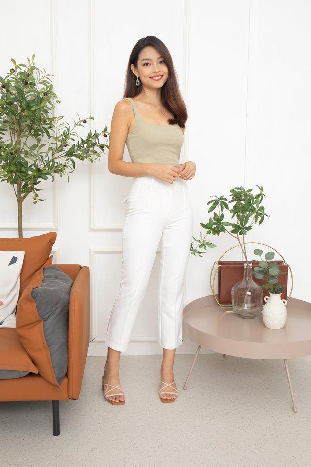 Ronna Slim Pants in White