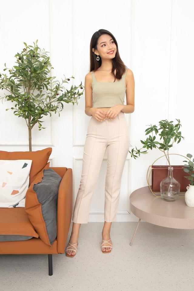 Ronna Slim Pants in Beige